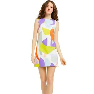 Alice + Olivia Clyde Geo Collage Mini Dress B816